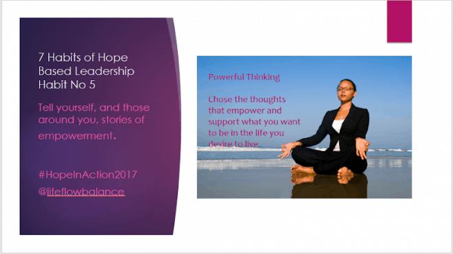 The 7 Habits of Hope Based Self-Leadership. Habit Number 5