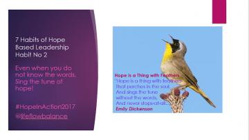 The 7 Habits of Hope Based Self-Leadership. Habit No. 2